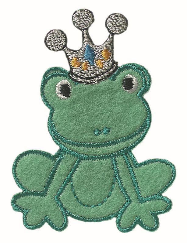kurzwarenkorbde  frosch mit krone